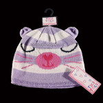 Cute Knitted Animal Hat – Lilac Cat