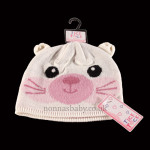 Cute Knitted Animal Hat – Pink Cat