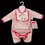 "Unisex ""Apple of Your Eye"" 5 Piece Layette"