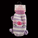 Cute Knitted Animal Mittens – Lilac Cat