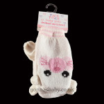 Cute Knitted Animal Mittens – Pink Cat