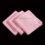 Traditional Pink Muslins (Pack of Three)