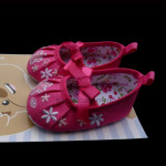 Cotton Flower Shoes – Magenta