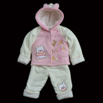 Heavyweight Fleece 3 Piece Set Girls Pink