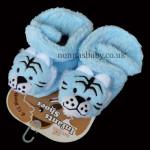 Fleece Infants Shoes Tiger – Blue