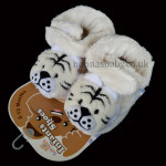 Fleece Infants Shoes Tiger – Cream