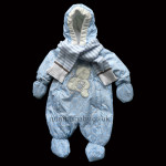 Gorgeous Padded Blue Snowsuit With Scarf
