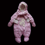 Gorgeous Padded Girls Snowsuit With Scarf