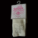 Cute Cream Diamond Baby Tights