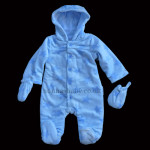Blue Padded Fleece Snowsuit