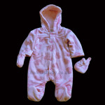 Pink Padded Fleece Snowsuit