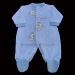 Gorgeous Blue Velour All-In-One