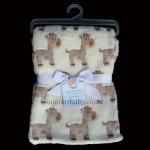 """Unisex Fleece """"Giraffe"""" Pram Blanket"""