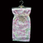 "Minky Fabric ""Vintage Rose"" Pram Blanket"