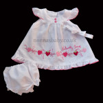 """Naturally Sweet"" White Baby Dress"