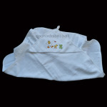 White Embroidered Hooded Baby Towel