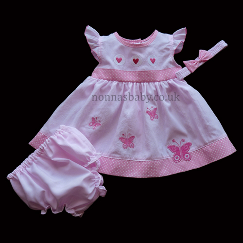 Butterfly Pink Baby Dress Nonna S Baby