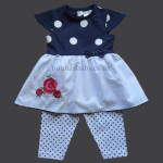 Navy Dots and Flowers Summer Dress