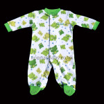 Happy Green Frog Sleepsuit