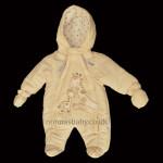 """Giraffe Cuddles"" Padded Unisex Baby Snowsuit"