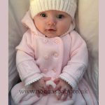 Double Knitted Pink Pram Coat