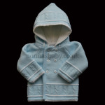 Double Knitted Blue Pram Coat
