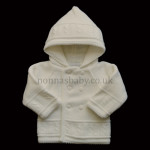 Double Knitted White Pram Coat