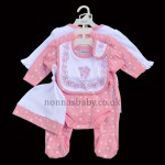 """Pink Flowers"" 6 Piece Layette"