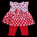 Red Polka Dots Baby Girl Set – Dress and Leggings