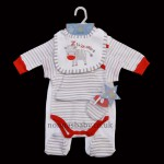 """Z is for Zebra"" 5 Piece Layette"