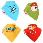 "Fun Bandana Bibs Set ""Fun Characters"" With Two Poppers"
