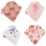 Fun Bandana Bibs Girly With Two Poppers