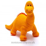 Knitted Medium Dinosaur Diplodocus Orange
