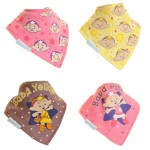 "Fun Bandana Bibs Set ""Cloudbabies Baba Pink & Baba Yellow"" With Two Poppers"