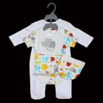 """All Creatures Big & Small"" 4 Piece Layette Set for Boys and Girls"