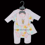 """Bunny & Ellie"" 4 Piece Layette Set for Girls"