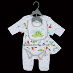 """Dinosaurs"" 4 Piece Layette Set for Boys and Girls"