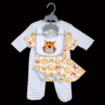 """Roar Tiger, Roar Lion"" 4 Piece Layette Set for Boys and Girls"