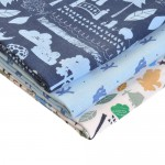 """In The Night Garden"" Muslin Squares Set Blue"