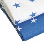 Muslin Swaddle Blankets Blue and White