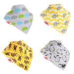 "Fun Bandana Bibs Set ""Animal Prints"" With Two Poppers"