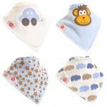 "Fun Bandana Bibs Set ""Boys Cute"" With Two Poppers"