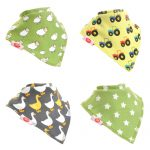 "Fun Bandana Bibs Set ""Farm"" With Two Poppers"