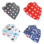 "Fun Bandana Bibs Set ""Uptown"" With Two Poppers"