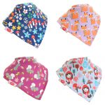 "Fun Bandana Bibs Set ""Woodland Girls"" With Two Poppers"